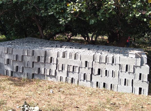 Mauer Ziegelsteine klein